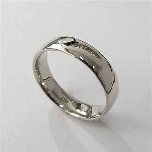 comfort fit wedding band platinum ring unisex ring With mens wedding ring platinum