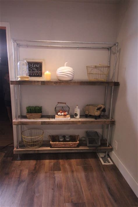 diy shelf ideas built  industrial pipe simplified