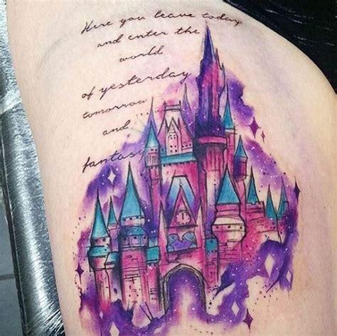 exquisite disney castle tattoo designs tattooblend