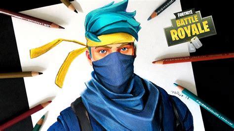 dibujo de ninja skin de fortnite   draw ninja skin