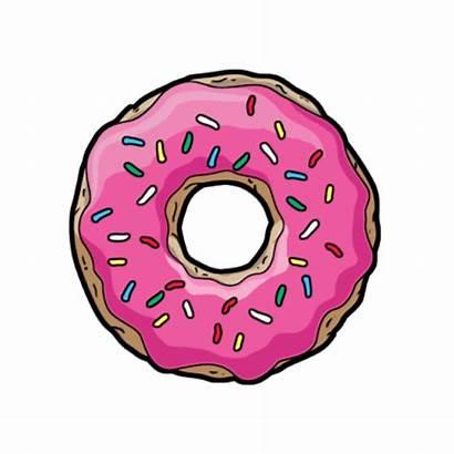 Donut Doughnut Sprinkles Clipart Pink Rainbow Sprinkled