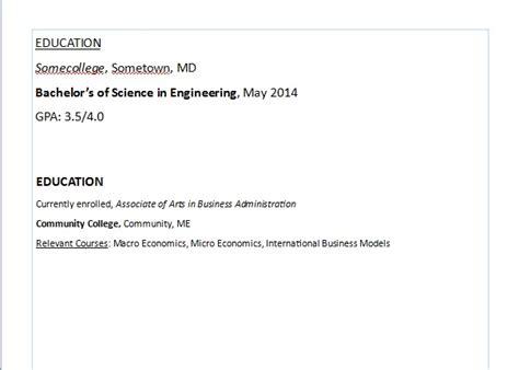 resume next steps education section career connoisseur