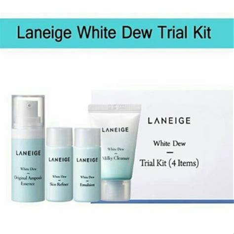 Harga Laneige Trial Kit White Dew jual laneige white dew trial kit 4 items di lapak