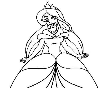 disegni da colorare principessa ariel disegno di principessa ariele da colorare acolore