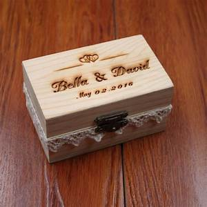 Rustic wedding ring bearer box personalized wedding ring for Wedding ring holder box