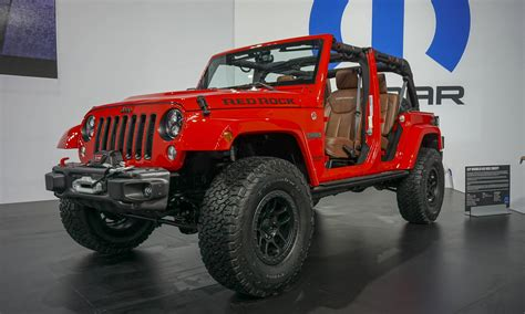 red jeep wrangler unlimited jeeps at the sema 2015 fit my car journal