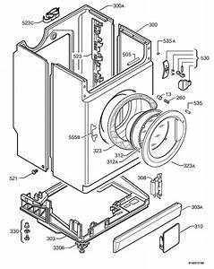 Zanussi Wjd1667w  91460181700  Washing Machine Housing Spare Parts Diagram