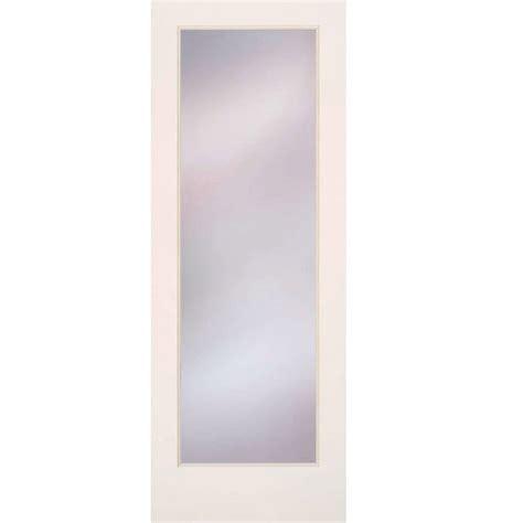 home depot interior glass doors feather river doors 24 in x 80 in privacy smooth 1 lite primed mdf interior door slab