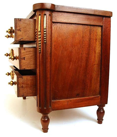 bureau commode antique nineteenth century miniature mahogany