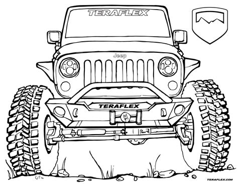 lifted jeep drawing lifted jeep wrangler coloring page coloring pages