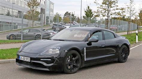 First Porsche Mission E Spy Photos Emerge, Complete With