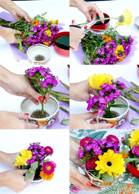 how to make an arrangement of flowers how to make a pretty floral arrangement in a bowl my poppet living