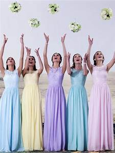 lace and chiffon pastel bridesmaid dresses available in With pastel color dress for wedding