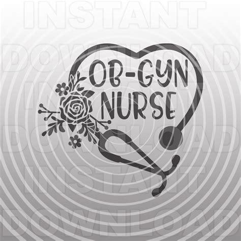 ob gyn nurse svg filefloral stethoscope svgnurse svgnursing etsy travel nurse quotes nurse