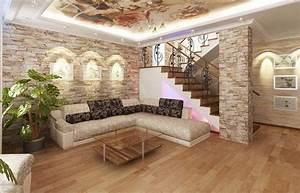 Bemerkenswert Steinwand Wohnzimmer Tv Ist Die Intelligente