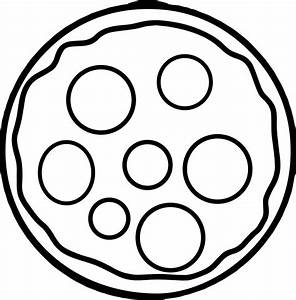 Cheese Basic Pizza Coloring Page | Wecoloringpage