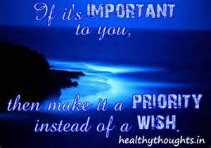 Importance of Priorities Quotes
