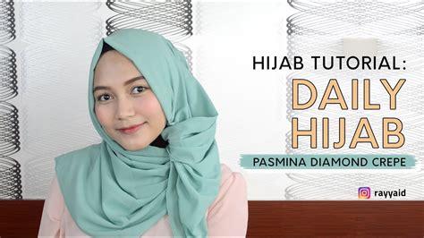 tutorial hijab pasmina diamond crepe hijab sehari