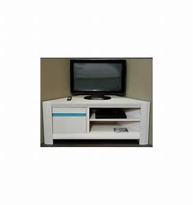 Meuble Angle Bois : meuble tv d angle laqu blanc meuble tv suspendu en bois ~ Edinachiropracticcenter.com Idées de Décoration
