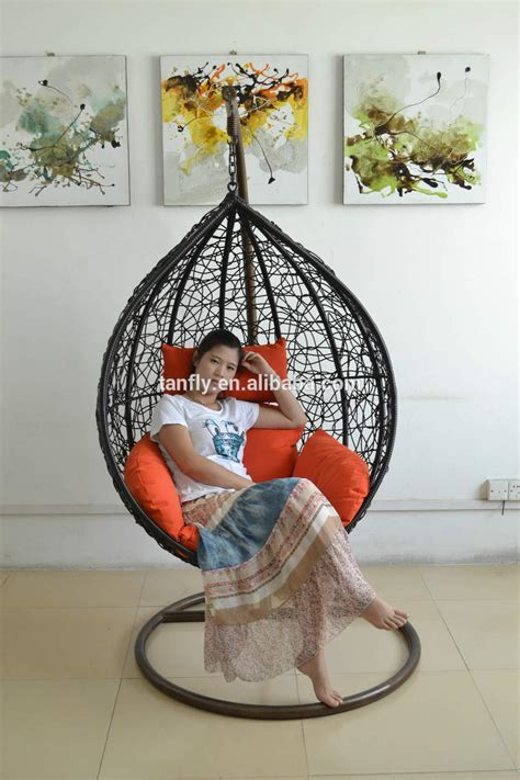 outdoor rattan swing hanging shaped egg chairs for