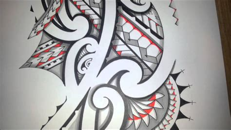 awesome maoristyle drawing handdrawn tribal tattoo