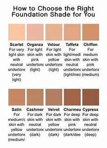 Brown Foundation Shade Chart Younique Foundations Color Chart Https Www Callieslashes