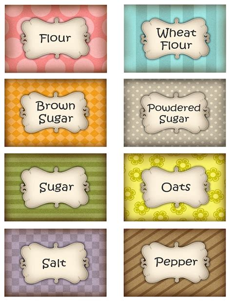 Kitchen Canister Labels by 394 Best Dollhouse Printables For Miniatures Images On