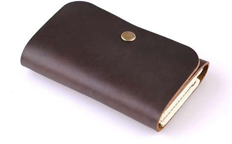 Leather Card Holder Handmade handmade leather coin purse wallet credit card holder