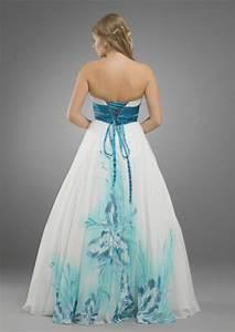 stunning blue tropical flower beach wedding dress flower With tropical wedding dresses