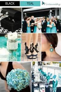 teal wedding colors black wedding color ideas invitesweddings