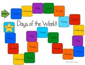 Days of the Week game board by Melissa J Teachers Pay