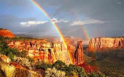 Colorado National Monument Rainbow Landscape Rainbows Matt