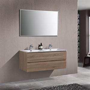 Meuble Double Vasque Design : meuble de salle de bain double vasque alicia 120 cm ~ Mglfilm.com Idées de Décoration
