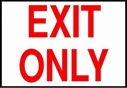 Exit Sign Clipart Clip Illustration Cliparts Library