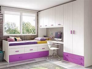 chambre de fille ado sympa avec lit gigogne glicerio With photo chambre ado fille