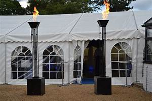 secondhand prop shop flame effects and lights 2x black With outdoor propane lights for sale