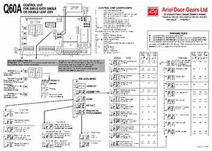 Proteco Q60a Ariel Door Gears Setup Instruction Service Manual Download  Schematics  Eeprom