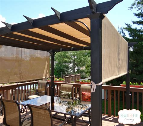 Porch Shades Lowes by Our New Pergola Shade At Last Beauteeful Living
