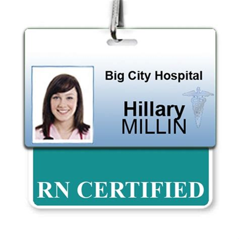 Rn Horizontal Badge Buddy With Colored Border And More Quot Rn Certified Quot Horizontal Badge Buddy With Teal Border And