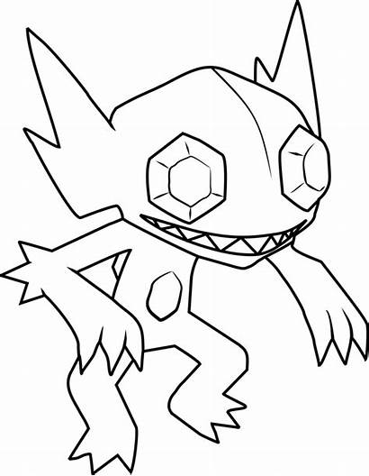 Pokemon Sableye Coloring Mega Sceptile Printable Oshawott