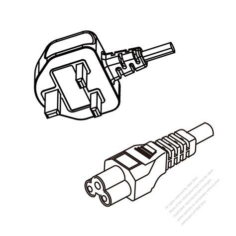Malaysia 3Pin Plug To IEC 320 C5 AC Power Cord Set