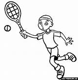 Tennis Coloring Pages Racket Clipartpanda Sports Printable Terms sketch template