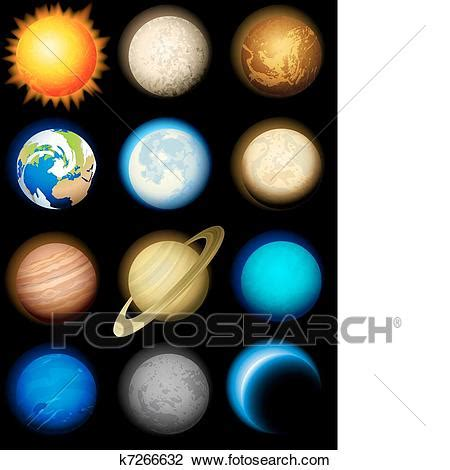 clipart  solar system icons  search clip art