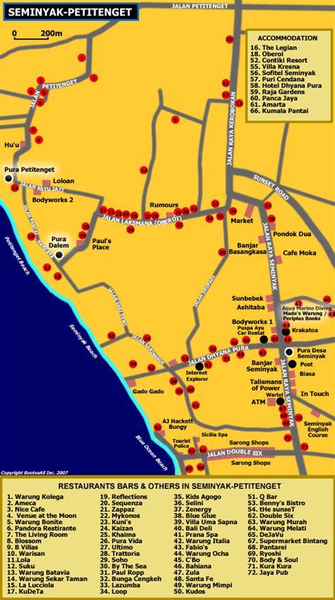 bali seminyak bars  hotels map bali map bali ubud