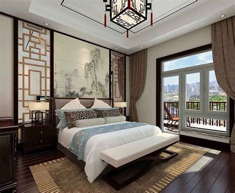 Modern Chinese Style Bedroom Renderings Green Purple Shower Curtain Houzz Outdoor M&s Hanging Rod From Ceiling Comedy Good Curtains How To Build A
