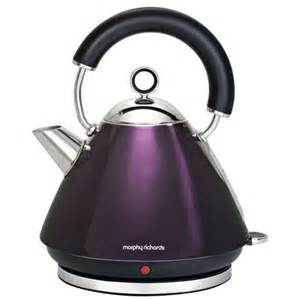 sainsburys kitchen collection morphy richards 43769 accents traditional kettle plum