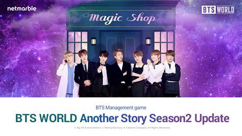 bts kunjungi magic shop  update maret bts world gamestation