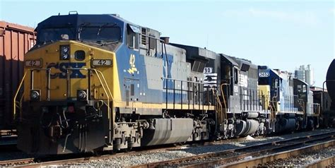 Northbound CSX with the following locomotives: CSX 42 ...