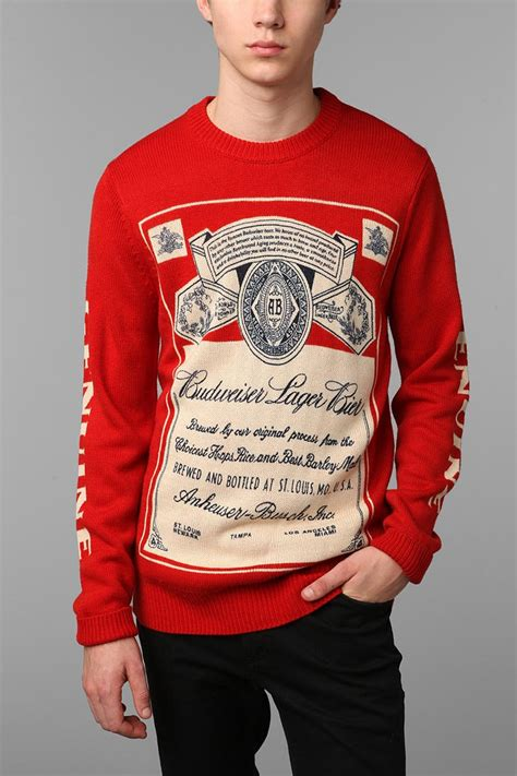 budweiser sweater 101 best budweiser images on 6 packs and