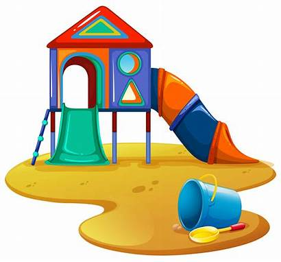 Playground Vector Slide Toys Clipart Roundabout Vectors